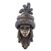 Masquerade Fancy Dress Arabian Woman Mask Bronze Effect Wall Plaque Home Decoration